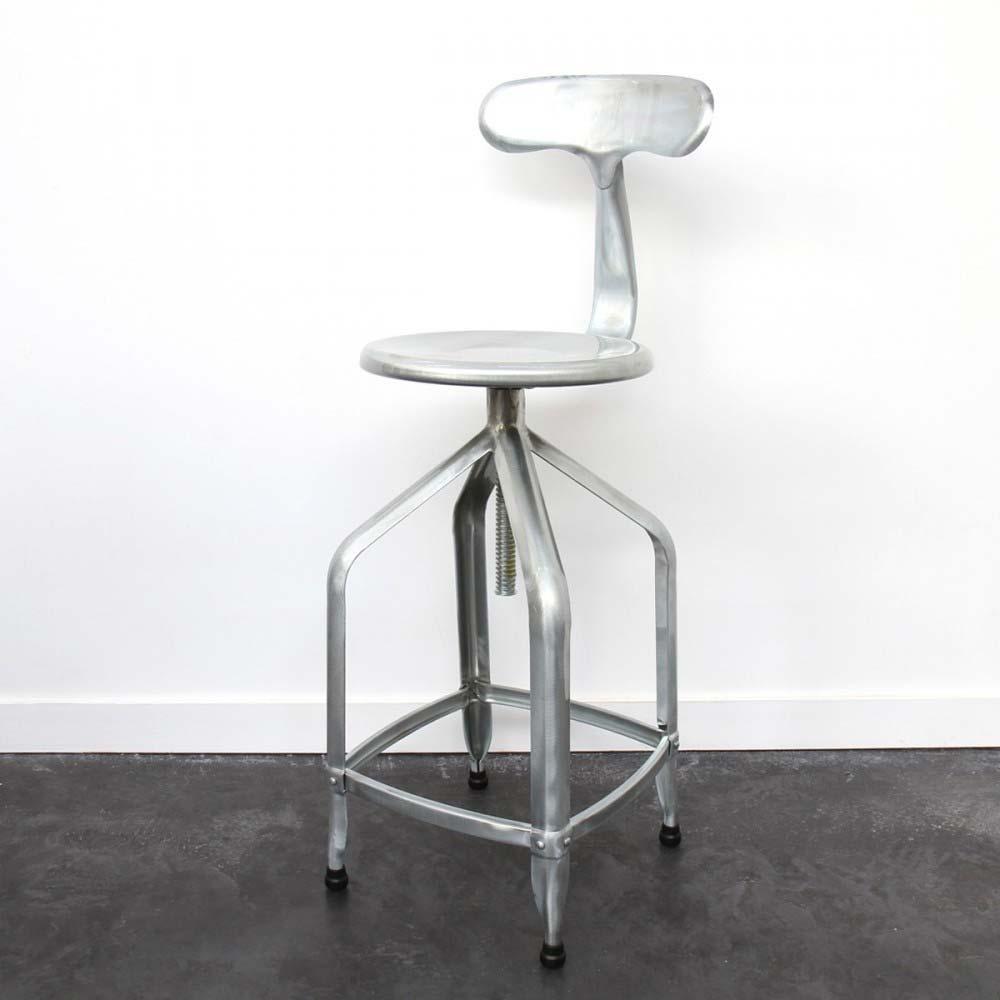 Chaise de bar en acier galvanis - Chaise de bar acier brosse ...