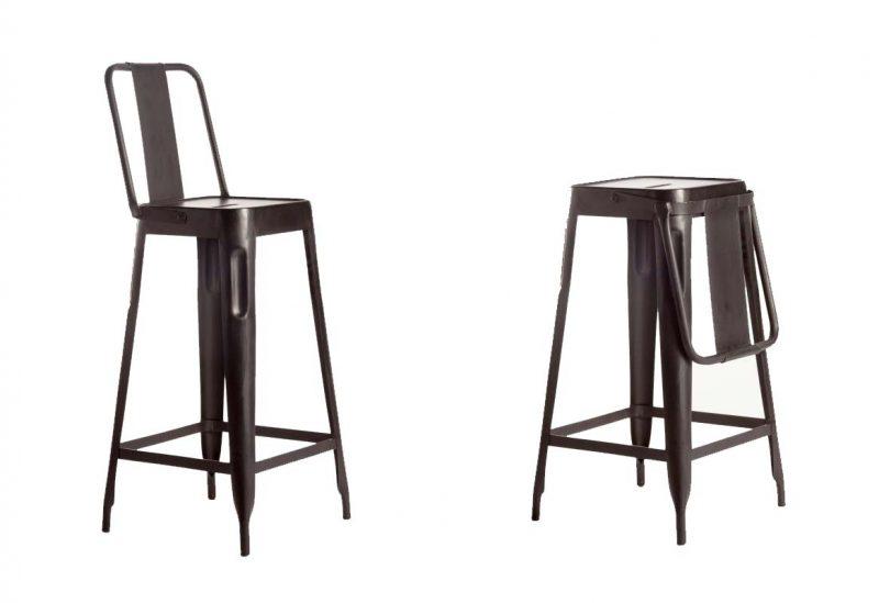 Chaise de bar avec dossier pliable