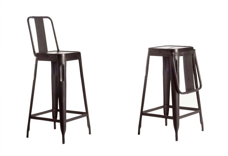 tabouret et chaise de bar industriel 27 id es d co. Black Bedroom Furniture Sets. Home Design Ideas