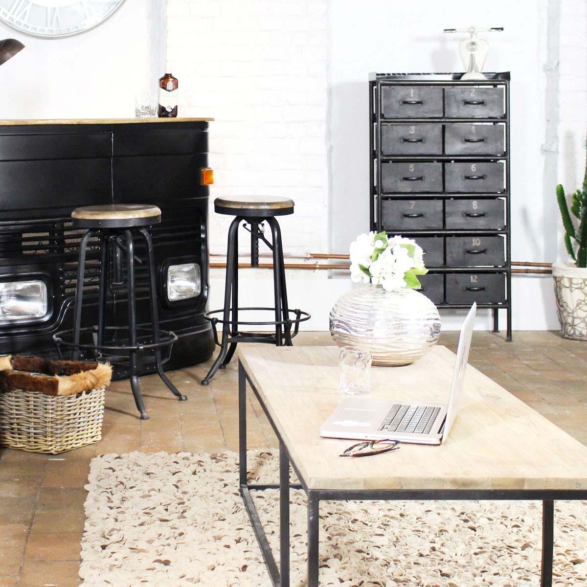 tabouret de bar industriel. Black Bedroom Furniture Sets. Home Design Ideas