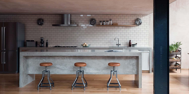 Tabouret de bar industriel : 28 idées déco pour la cuisine