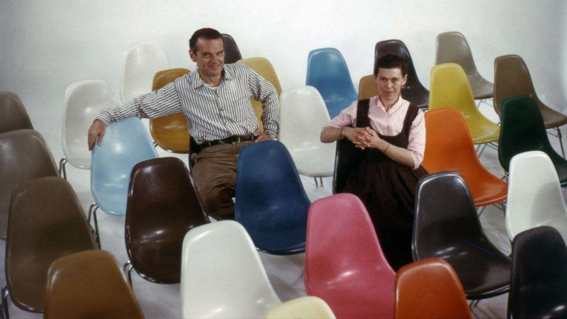 Chaises charles ray eames vintage