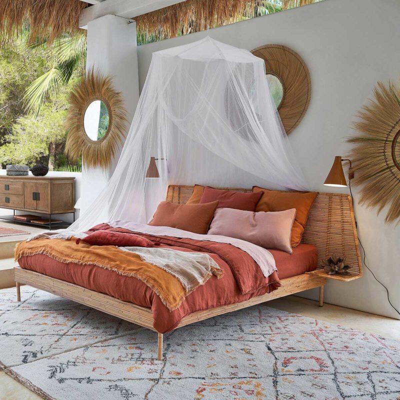Chambre avec tapis berbère