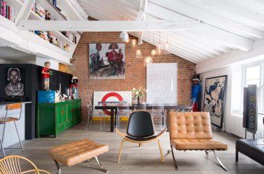 Combles aménagés en loft à Londres