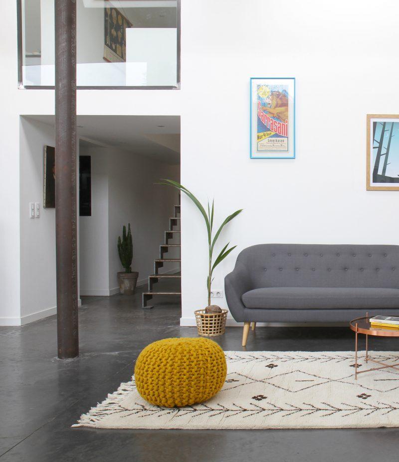 Loft avec mobilier drawer