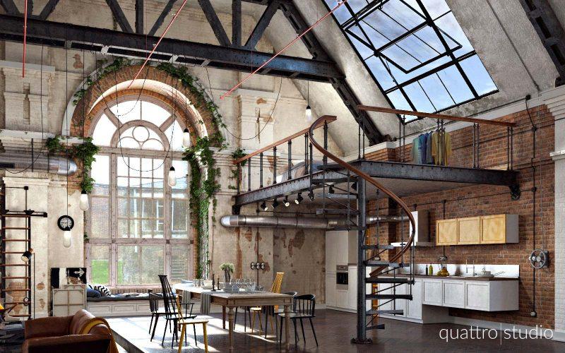 Loft industriel dans une ancienne usine textile