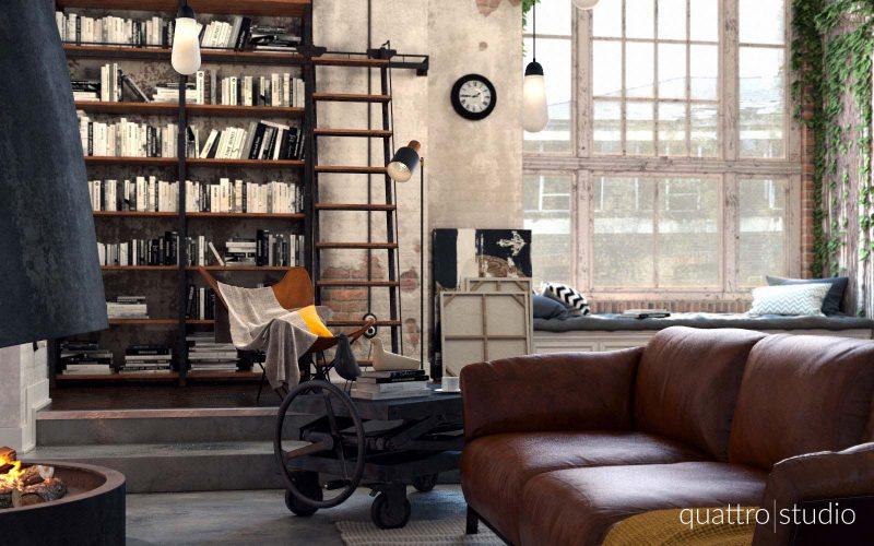 Loft industriel en 3D par Quattro Studio