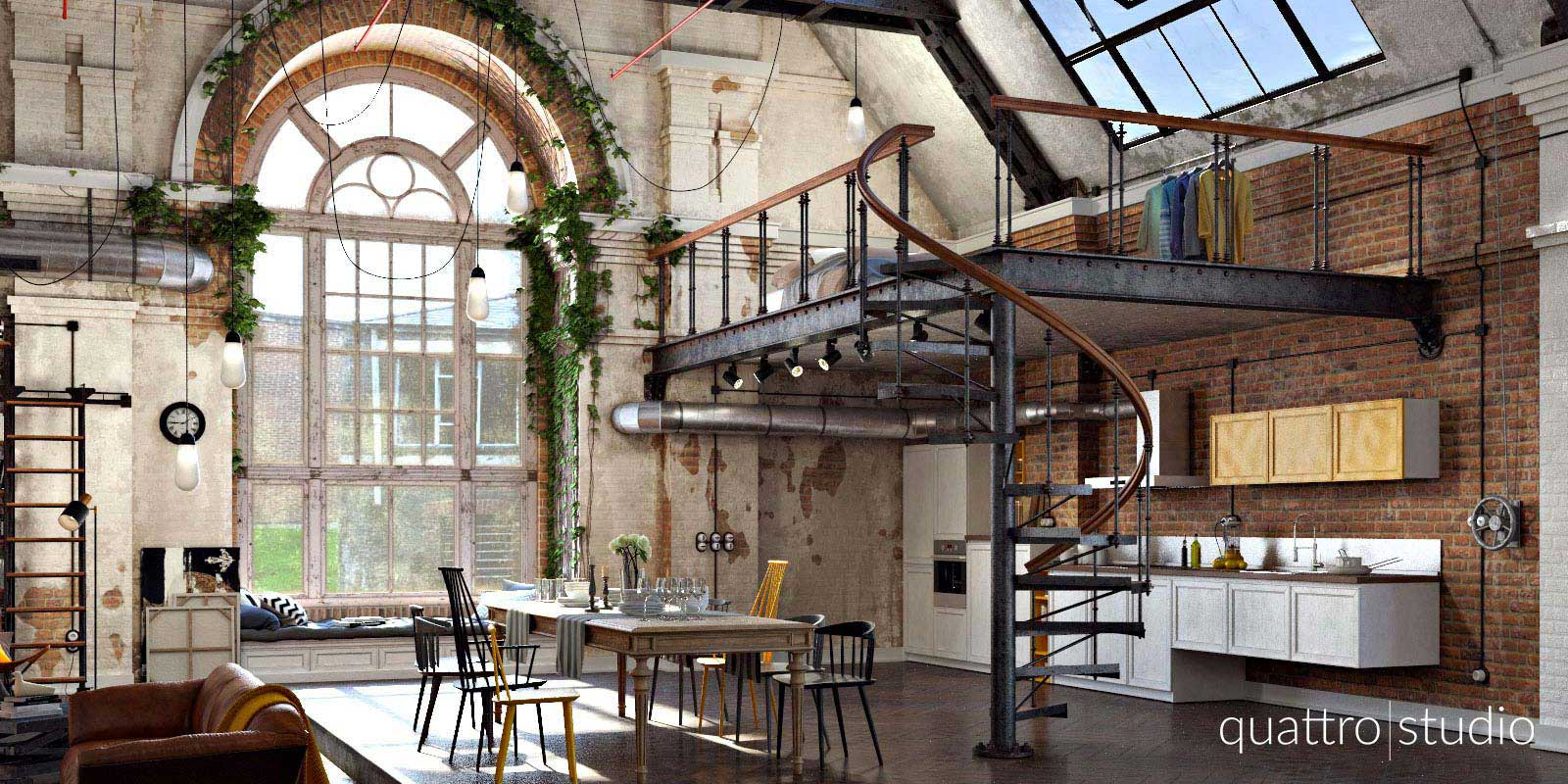 Emejing design loft industriel photos - Loft style industriel ...
