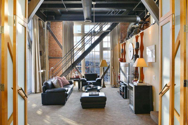 Loft industriel avec briques à San Francisco