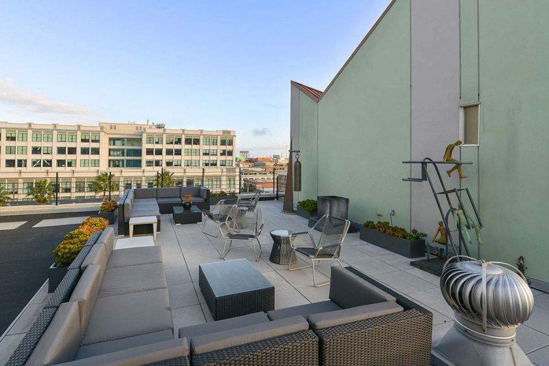Terrasse avec vue sur San Francisco