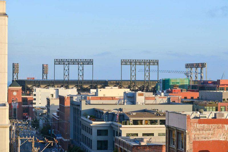 Vue sur le stade des Giants à San Francisco