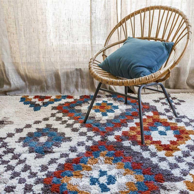 tapis berb re 14 id es d co pour le salon. Black Bedroom Furniture Sets. Home Design Ideas