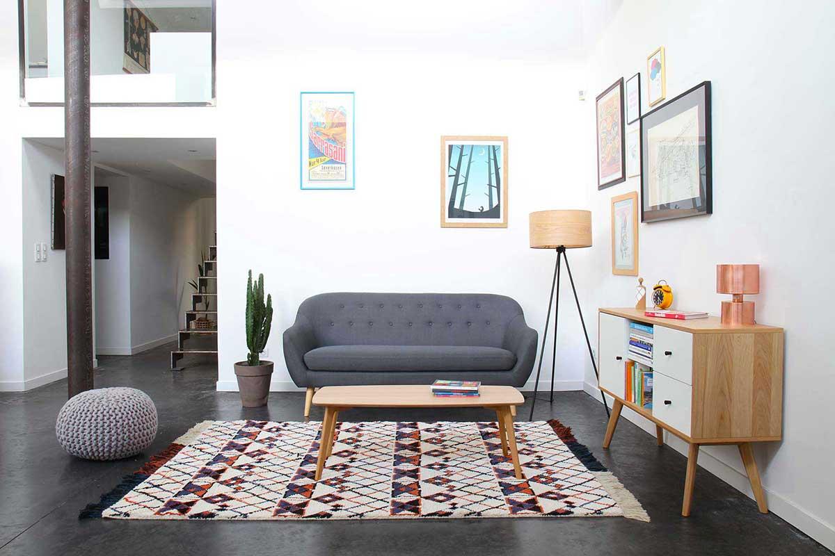 tapis style berb re maroc en laine. Black Bedroom Furniture Sets. Home Design Ideas