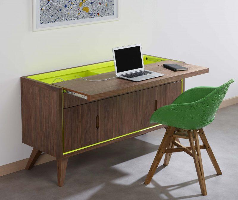 Cosy korner le mobilier qui se transforme en bureau for Bureau qui se referme