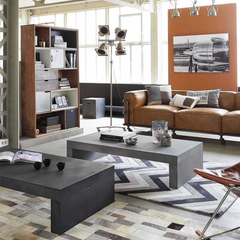 canap cuir marron 13 id es d co pour le salon. Black Bedroom Furniture Sets. Home Design Ideas