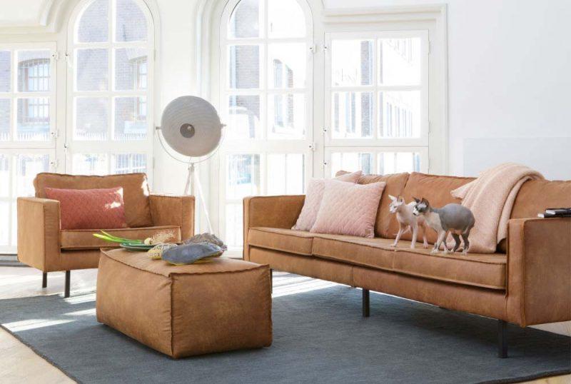Canapé cuir marron : 14 idées déco pour le salon