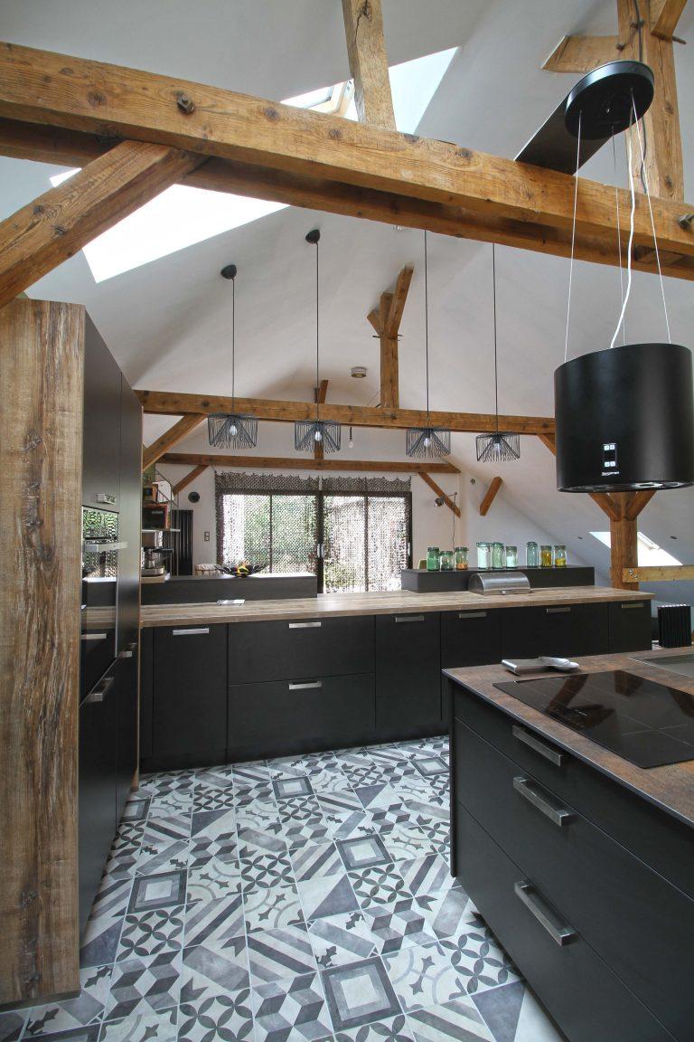 cuisine noire design. Black Bedroom Furniture Sets. Home Design Ideas