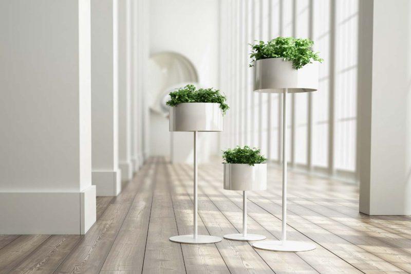18 id es d co de support pour plante for Cache pot design exterieur