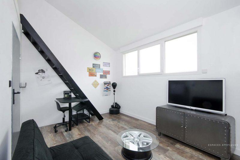 Chambre du loft à Nantes