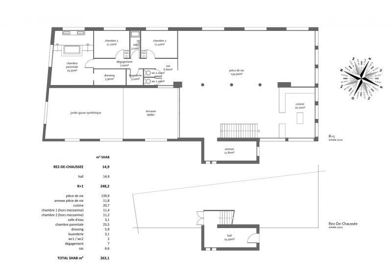 Plan du loft à Nantes