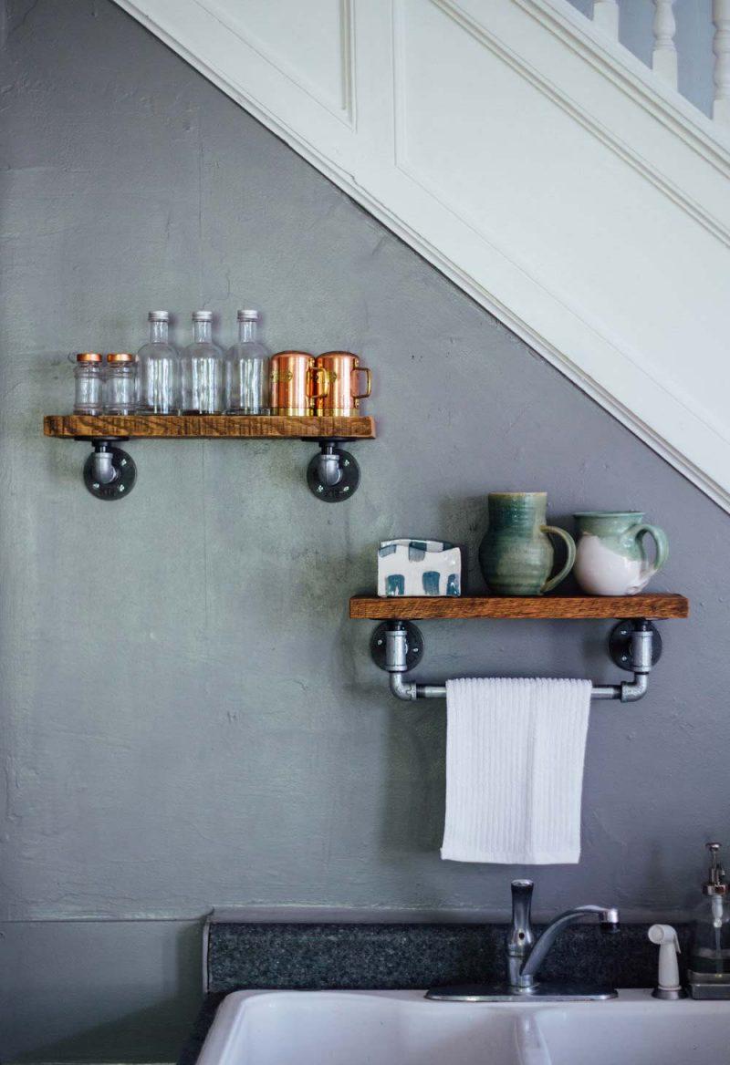 Petite étagère murale pour une déco industrielle
