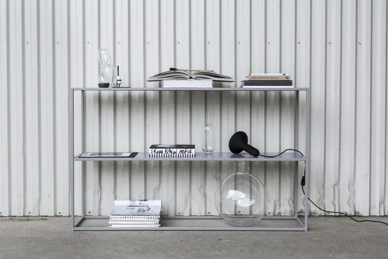Console en métal gris