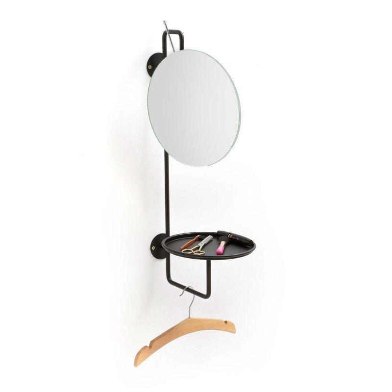 Miroir avec porte manteau