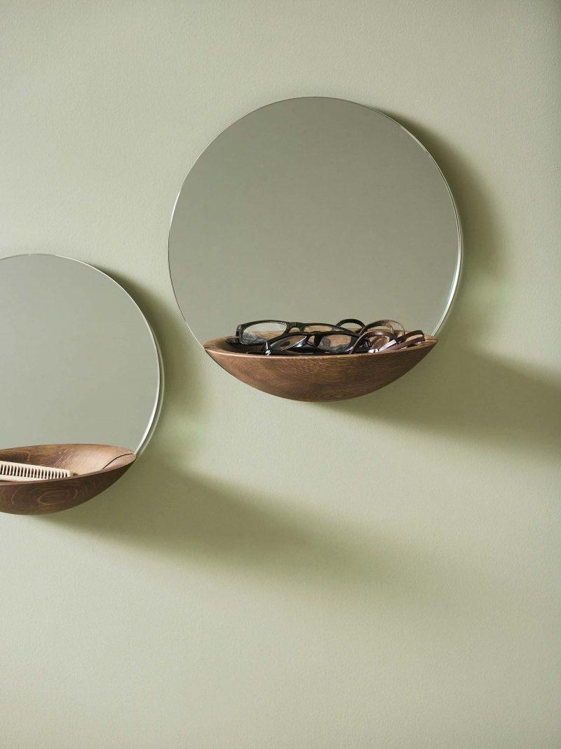 Miroir rond vide poche