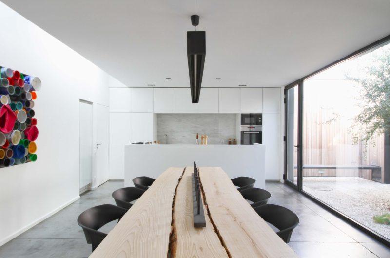 Table en planches brutes