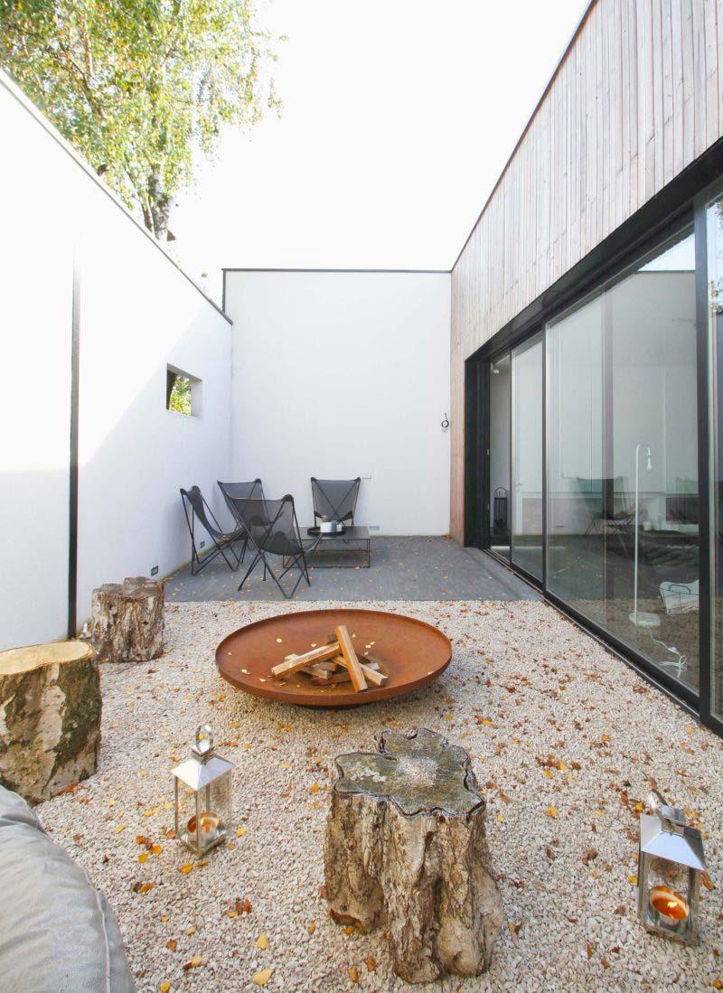 Terrasse du loft en longueur for Loft terrasse
