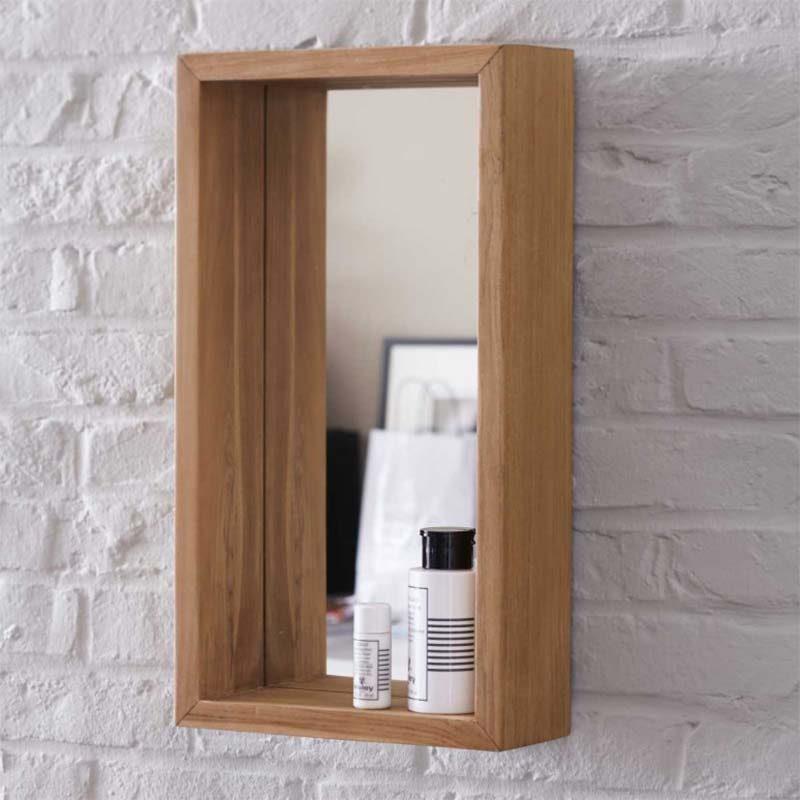 19 id es d co de miroir avec rangement - Miroir cadre bois ...