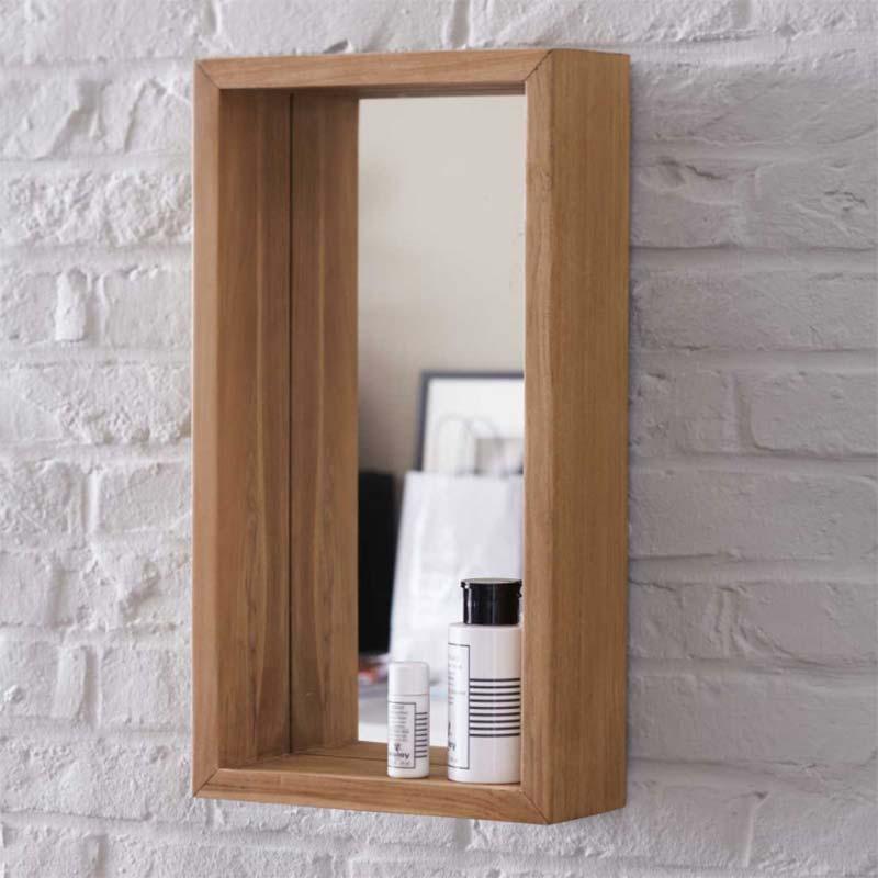 Miroir avec cadre en bois for Cadre miroir bois