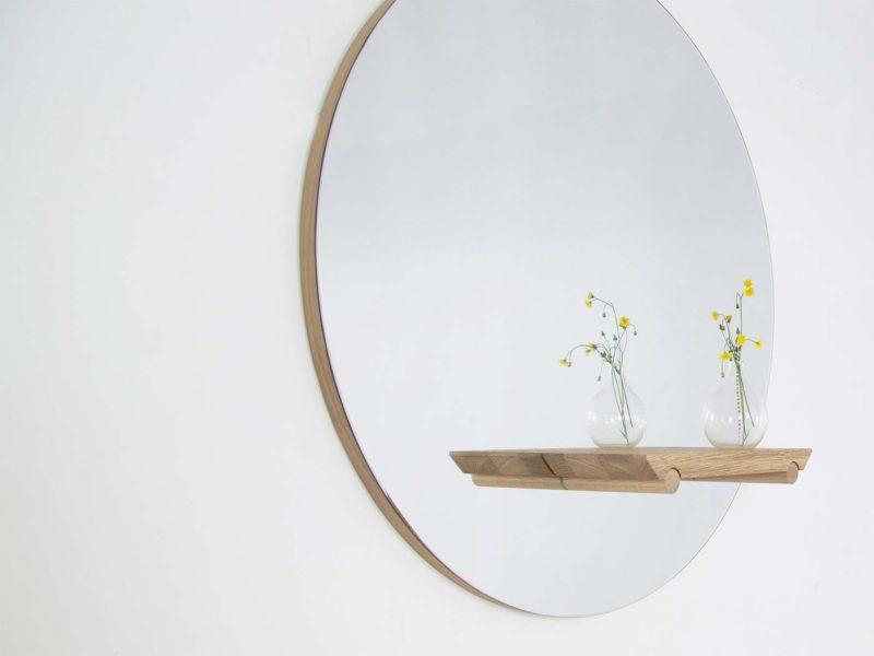 Miroir avec patère