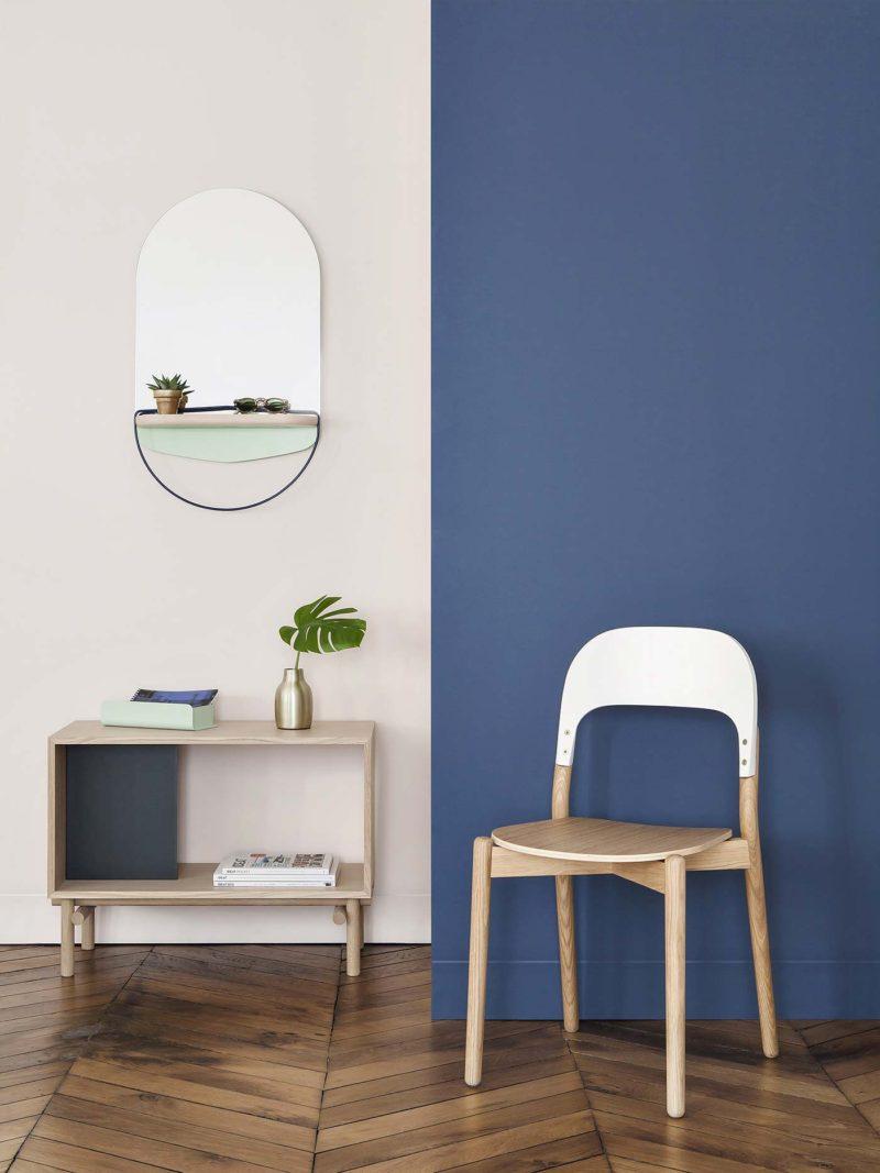 Miroir design avec tablette Harto
