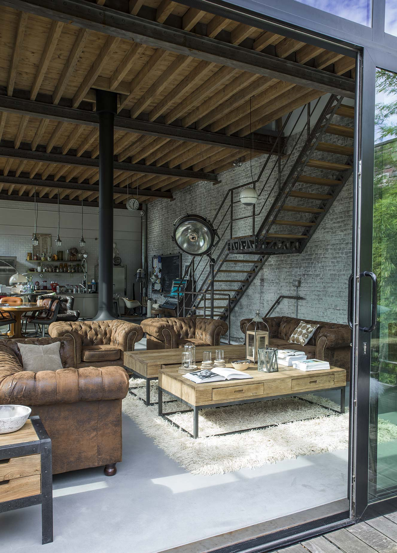 Interior's photographie sa collection Transition dans un loft industriel