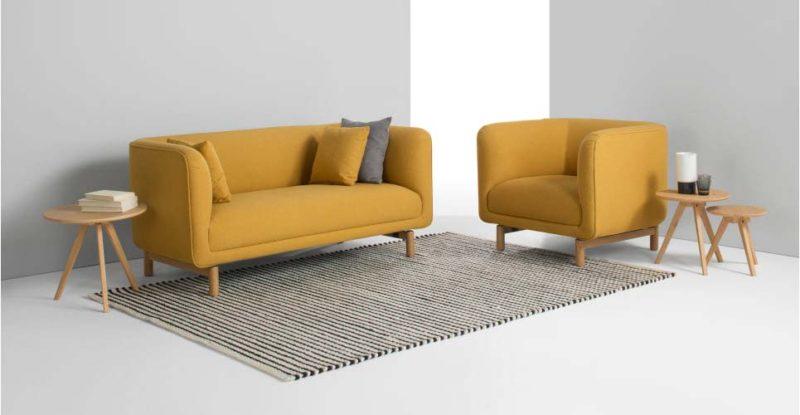 Canapé design jaune