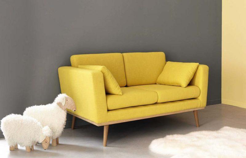 canape jaune maisons du monde. Black Bedroom Furniture Sets. Home Design Ideas