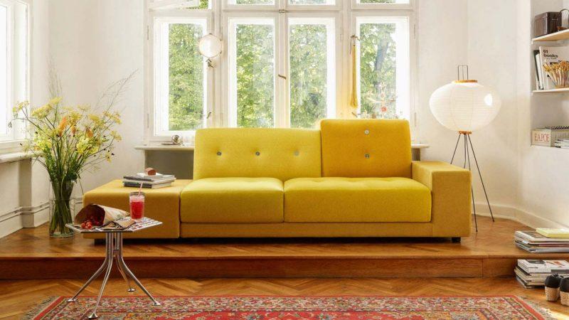 Canapé Vitra Polder jaune