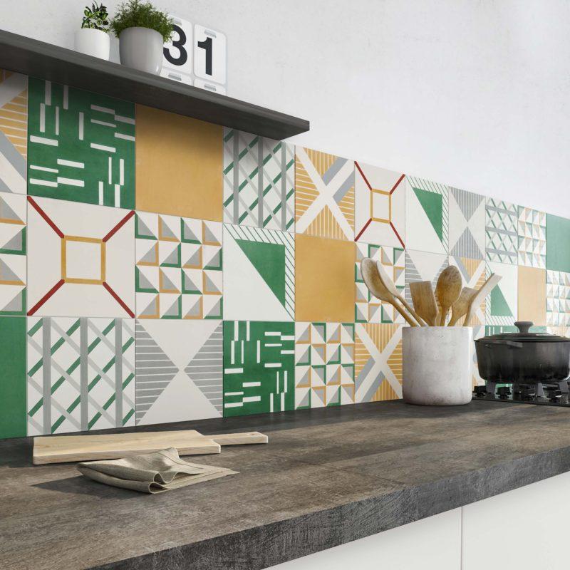 Carreaux de ciment motifs graphiques moderne