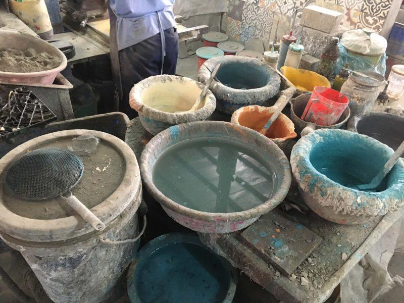 Fabrication carreaux de ciment