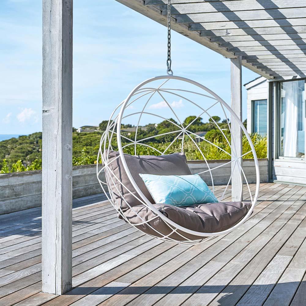 fauteuil suspendu blanc maisons du monde. Black Bedroom Furniture Sets. Home Design Ideas