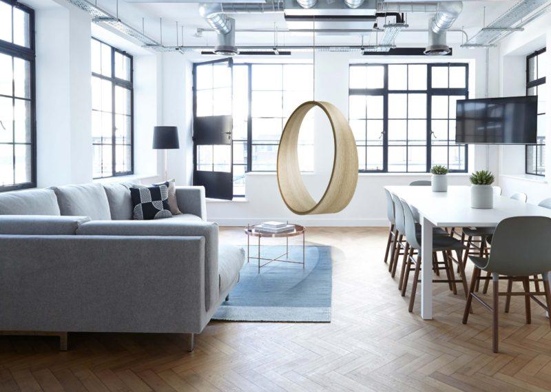 Fauteuil suspendu design minimaliste