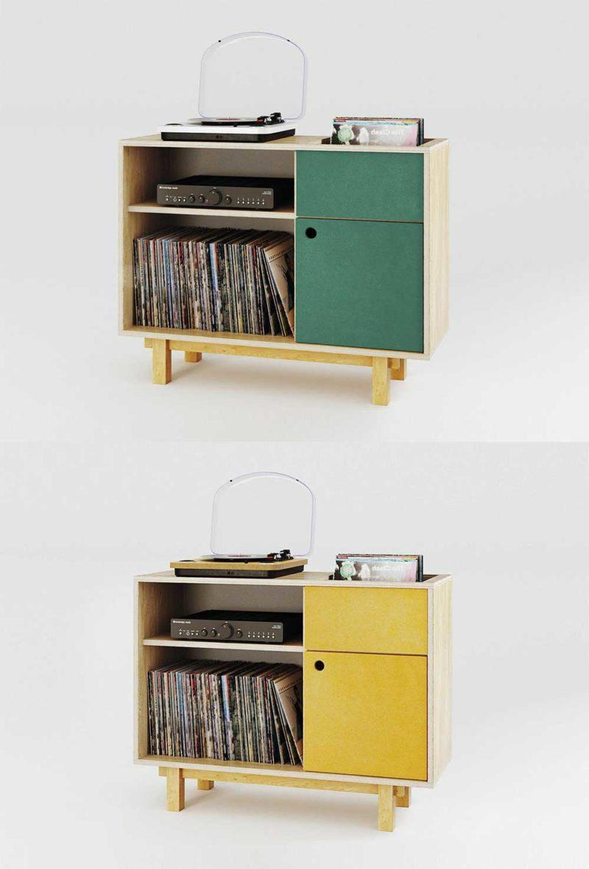 Meuble commode pour disque vinyle