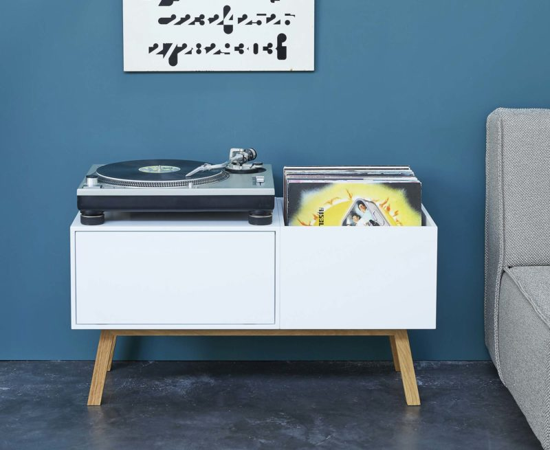Meuble pour platine et vinyles