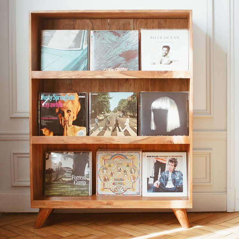 Meuble vinyle en bois