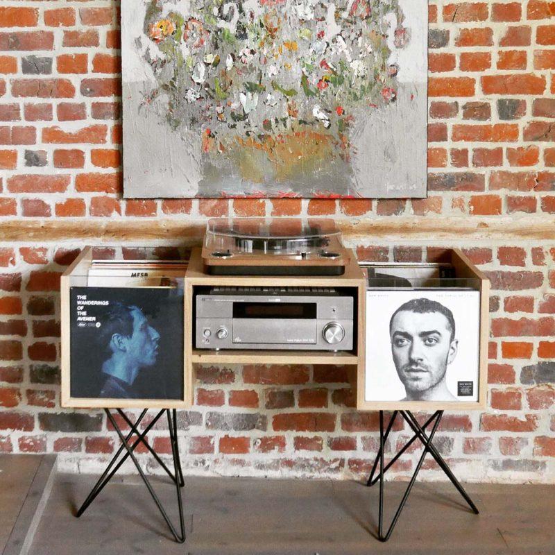 Meuble pour 200 vinyles fabriqué en France