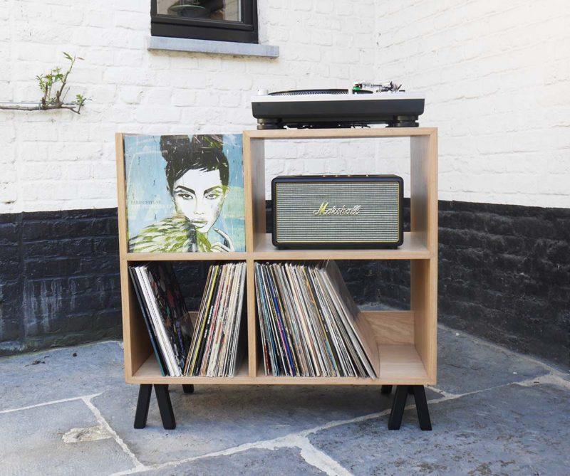 Meuble pour 300 vinyles fabriqué en France