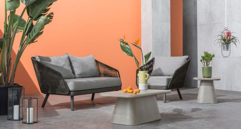 Mobilier de jardin beton