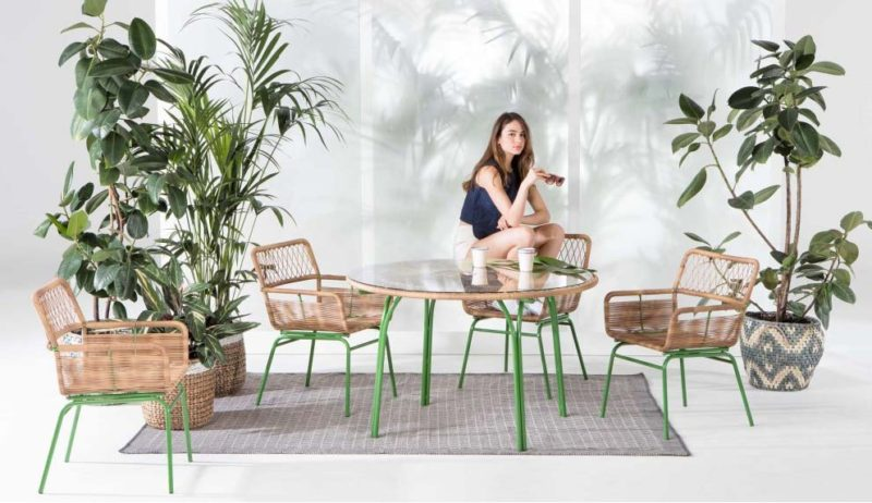 Mobilier de jardin vintage