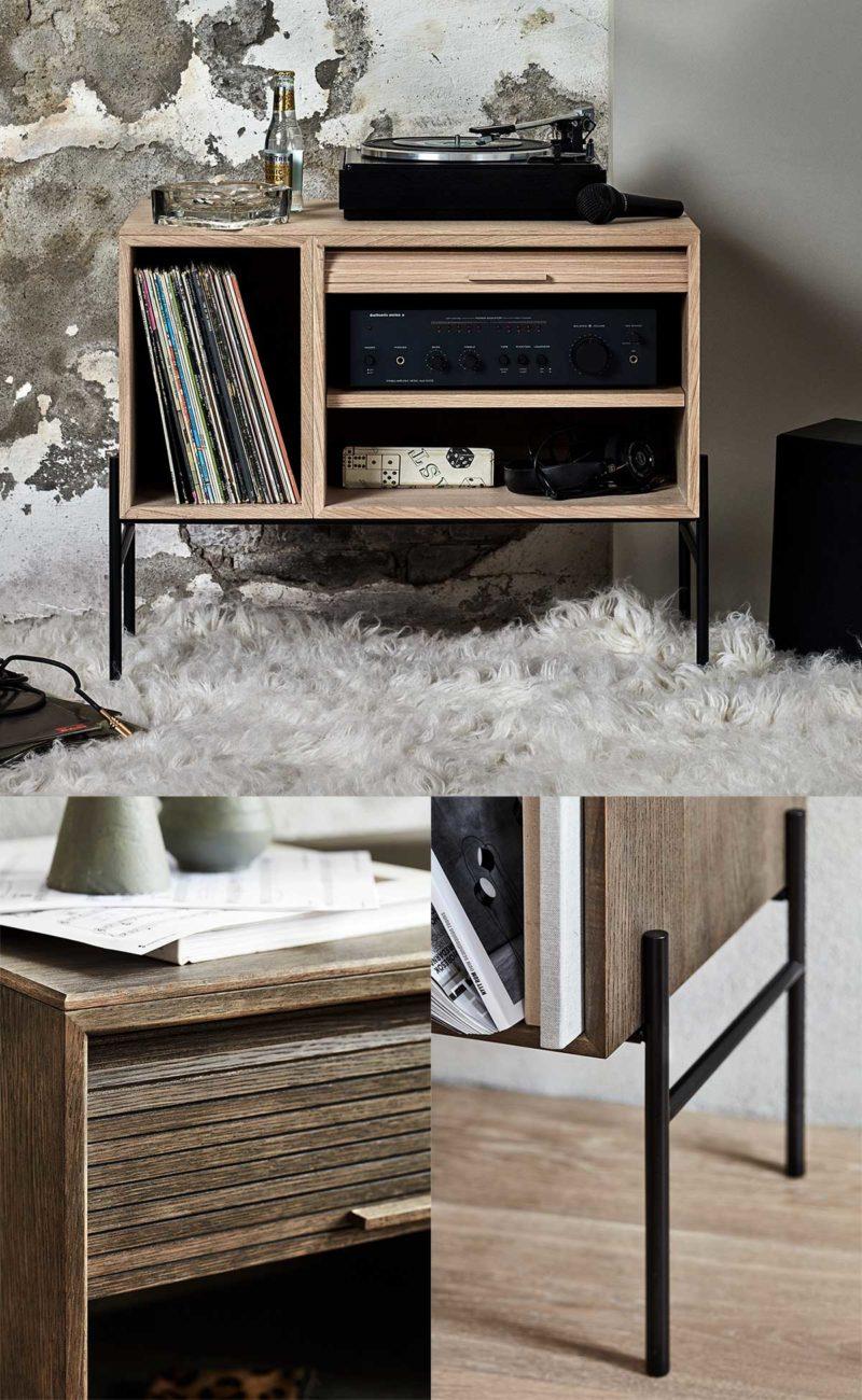Petit meuble hifi pour vinyles